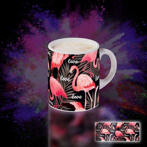 """Bögre flamingós """"Love"""" 037_J"""
