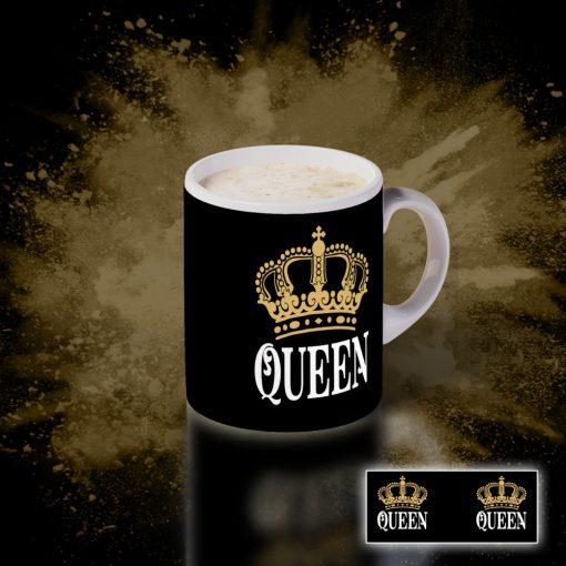 """Bögre """"Queen"""" felirattal"""