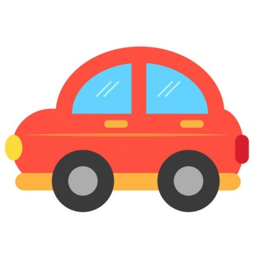 óvodai törölközőre kisauto jel