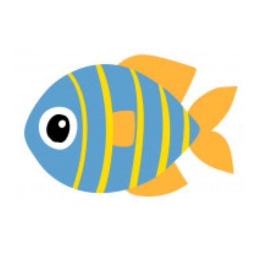óvodai törölközőre hal jel