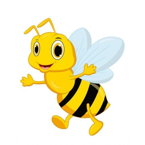 óvodai törölközőre méhecske jel