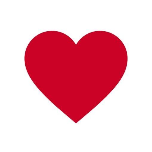 óvodai törölközőre szív jel