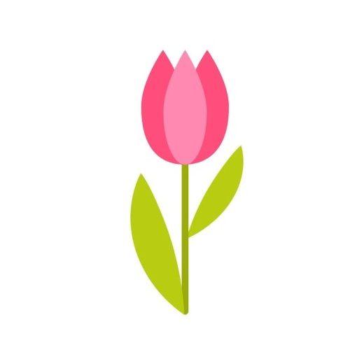 óvodai törölközőre tulipán jel